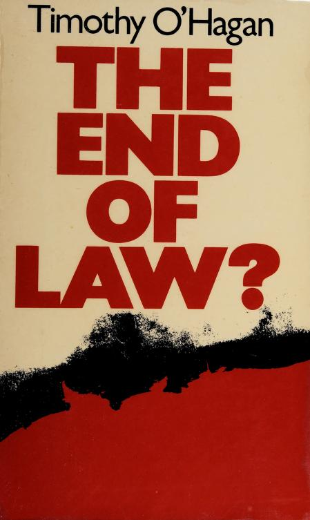 The end of law? by Timothy O'Hagan