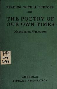 Cover of: The poetry of our own times | Wilkinson, Marguerite Ogden Bigelow