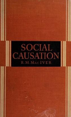 Cover of: Social causation | Robert M. MacIver