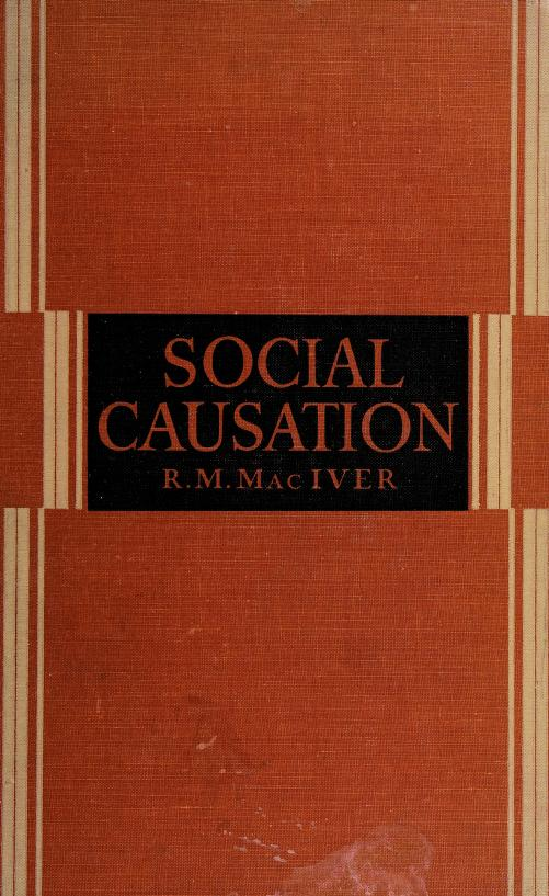 Social causation by Robert M. MacIver