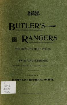 Cover of: The story of Butler's Rangers and the settlement of Niagara   E. A. Cruikshank